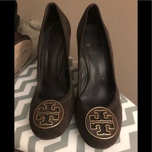 Tory Burch suede wedges